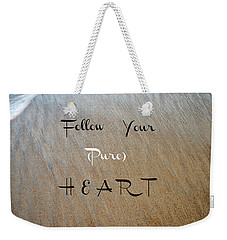 The Pure Heart Weekender Tote Bag