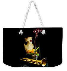 Weekender Tote Bag featuring the photograph The Purple Orchid by Elf Evans