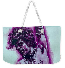 Weekender Tote Bag featuring the painting The Purple Prince   by Darryl Matthews