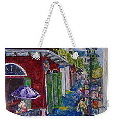 The Purple Umbrella        Pirates Alley Weekender Tote Bag