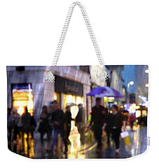 Weekender Tote Bag featuring the photograph The Purple Umbrella by LemonArt Photography