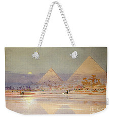 The Pyramids At Dusk Weekender Tote Bag by Augustus Osborne Lamplough