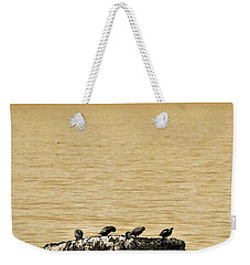The Quatuor - Gold Weekender Tote Bag by Aimelle