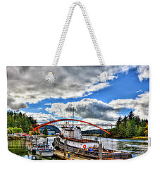 The Rainbow Bridge - Laconner Washington Weekender Tote Bag by David Patterson