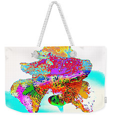 The Rainbow Iris Weekender Tote Bag