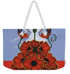 Weekender Tote Bag featuring the painting The Ravishers by Andrew Batcheller