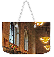 Weekender Tote Bag featuring the photograph The Reading Room by Jessica Jenney