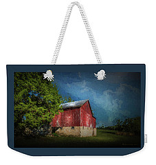 Weekender Tote Bag featuring the photograph The Red Barn by Marvin Spates
