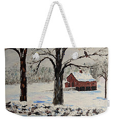 The Red Barn Weekender Tote Bag
