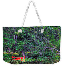 The Red Canoe Weekender Tote Bag by David Patterson