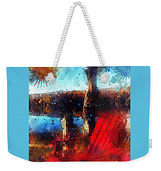 Weekender Tote Bag featuring the photograph The Red Chair by Claire Bull
