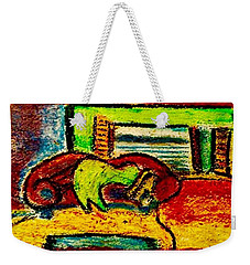 The Red Couch Weekender Tote Bag