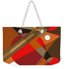 Weekender Tote Bag featuring the digital art The Red Eye by Val Arie