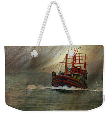 The Red Fishing Boat Weekender Tote Bag