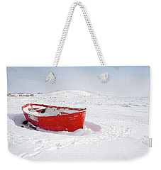 The Red Fishing Boat Weekender Tote Bag by Nick Mares