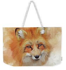 Weekender Tote Bag featuring the digital art The Red Fox by Brian Tarr