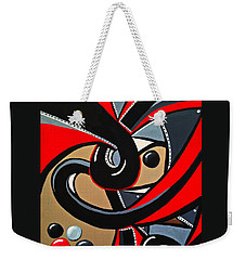 The Red Letter - Abstract Art Painting Weekender Tote Bag