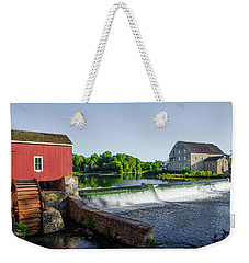 The Red Mill  On The Raritan River - Clinton New Jersey  Weekender Tote Bag by Bill Cannon