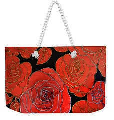 The Red Red Roses Weekender Tote Bag