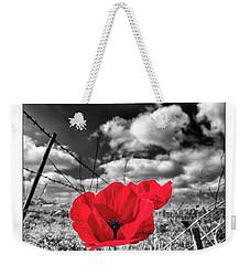 The Red Spot Weekender Tote Bag by Arik Baltinester