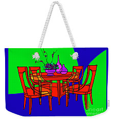 The Red Table Weekender Tote Bag