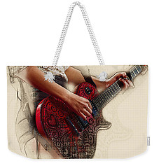 The Red Tour Guitar Weekender Tote Bag by Don Kuing