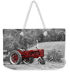 The Red Tractor Weekender Tote Bag by Aimelle