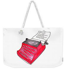 The Red Typewriter Weekender Tote Bag