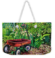 The Red Wagon Weekender Tote Bag