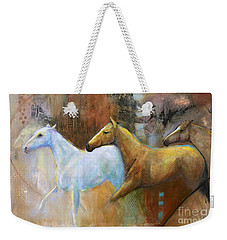 The Reflection Of The White Horse Weekender Tote Bag by Frances Marino