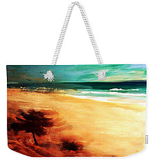Weekender Tote Bag featuring the painting The Remaining Pine by Winsome Gunning