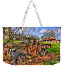 The Resting Place 2 Boswell Farm 1947 Dodge Dump Truck Weekender Tote Bag by Reid Callaway