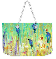 Weekender Tote Bag featuring the painting The Resting Place by Frances Marino