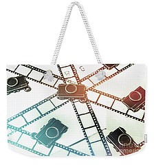 The Retro Camera Reel Weekender Tote Bag