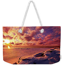 Weekender Tote Bag featuring the photograph The Return by Phil Koch