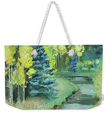 Weekender Tote Bag featuring the drawing The Reunion  by Robin Maria Pedrero