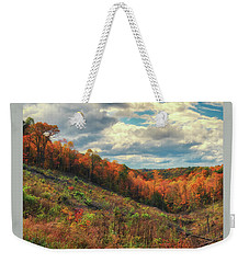 The Ridges Of Southern Ohio In Fall Weekender Tote Bag