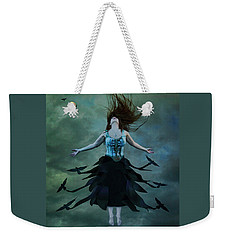 Weekender Tote Bag featuring the digital art The Rising by Nicole Wilde