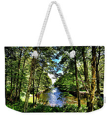 Weekender Tote Bag featuring the photograph The River At Covewood by David Patterson
