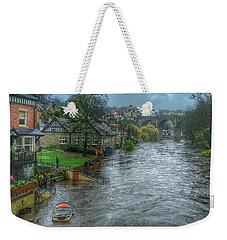 The River Nidd In Flood At Knaresborough Weekender Tote Bag by RKAB Works