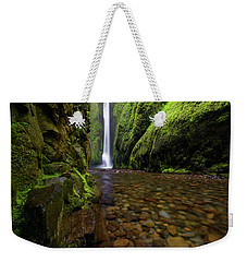 The River Rocks Weekender Tote Bag by Jonathan Davison
