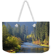 The River Runs Through Autumn Weekender Tote Bag