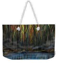 Weekender Tote Bag featuring the digital art The River Side by Darren Cannell