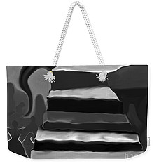Weekender Tote Bag featuring the mixed media The Road To Despair by Patricia Griffin Brett