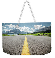 Weekender Tote Bag featuring the photograph The Road To Glacier by Margaret Pitcher