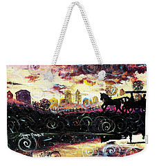 Weekender Tote Bag featuring the painting The Road To Home by Shana Rowe Jackson