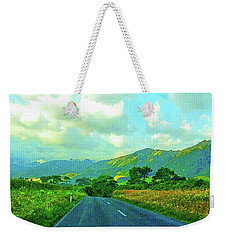 Weekender Tote Bag featuring the photograph The Road To Te Aroha by Kathy Kelly