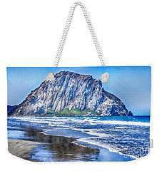 The Rock At Morro Bay Large Canvas Art, Canvas Print, Large Art, Large Wall Decor, Home Decor, Photo Weekender Tote Bag