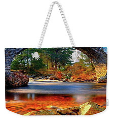 The Rock Bridge Weekender Tote Bag