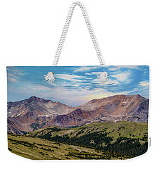 Weekender Tote Bag featuring the photograph The Rockies by Bill Gallagher